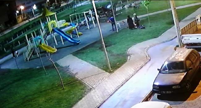 Üzerinde çocukların bulunduğu kamelyanın çökme anı kamerada(Video)