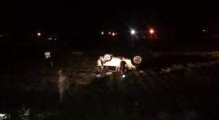 Devrilen otomobilin içerisindeki 14 yaşındaki çocuk öldü