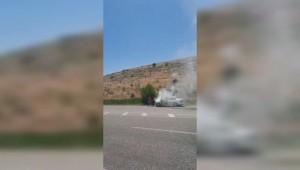 Sağlık ekipleri bu defa araç yangınını söndürdü ( Video Haber )